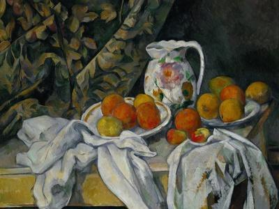 Still Life with Curtain and Flowered Pitcher, 1899