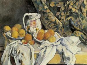 Still Life with Drapery by Paul Cézanne
