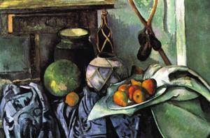 Still Life with Eggplant by Paul Cézanne