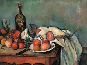 Still Life with Onions by Paul Cézanne