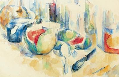 Still Life with Sliced Open Watermelon by Paul Cézanne