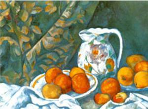 Still Life with Tablecloth by Paul Cézanne