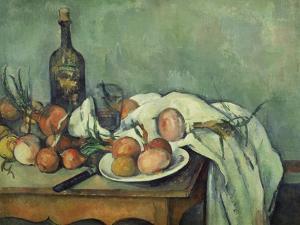 Stilleben Mit Zwiebeln. Gegen 1895 by Paul Cézanne