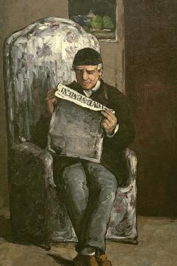 """The Artist's Father, Reading """"L'Événement"""", 1866 by Paul Cézanne"""