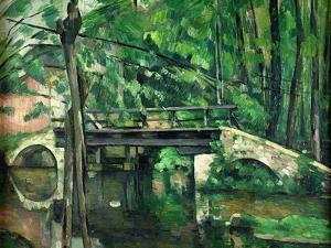 The Bridge at Maincy, or the Bridge at Mennecy, or the Little Bridge, circa 1879 by Paul Cézanne