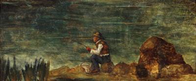 The Fisherman on the Rock; Le Pecheur Au Rocher, 1862-1864 by Paul Cézanne