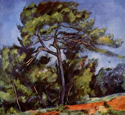 Paul Cezanne (The large pine) Art Poster Print