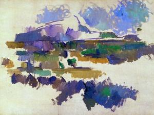 The Mont Sainte-Victoire, Seen from Lauves, 1905 by Paul Cézanne