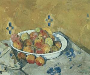 The Plate of Apples, c.1897 by Paul Cézanne