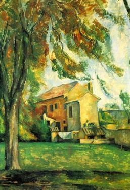 Paul Cezanne The Pond of the Jas de Bouffan in Winter Art Print Poster