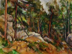 The Rocks in the Park of the Chateau Noir, 1898-1899 by Paul Cézanne