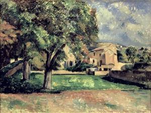 Trees in a Park, Jas de Bouffan, 1885-87 by Paul Cézanne