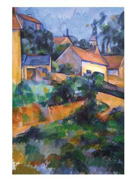 Turning Road at Montgeroult by Paul Cézanne