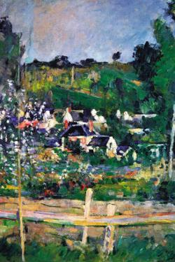 Village Behind The Fence by Paul Cézanne