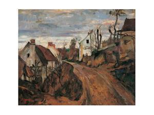 Village Street in Auvers by Paul Cézanne