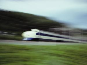 A Blurred View of a Bullet Train by Paul Chesley