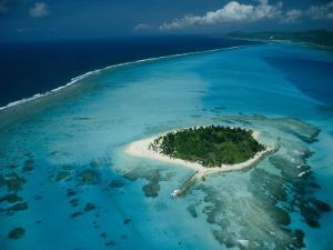 An Aerial View of Saipan Island in Micronesia by Paul Chesley