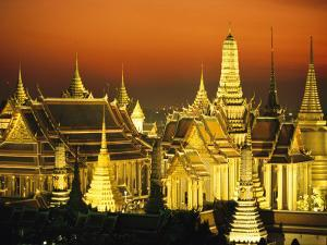 Grand Palace and Temple of the Emerald Buddha, Wat Phra Kaeo by Paul Chesley