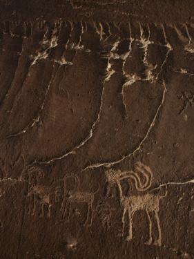 Indian Petroglyph Depicting a Mountain Sheep by Paul Chesley