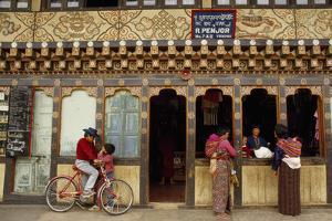 Locals At Historic Storefronts in the City Center by Paul Chesley