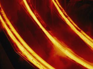 Molten Steel Flows Through a Steel Mill by Paul Chesley
