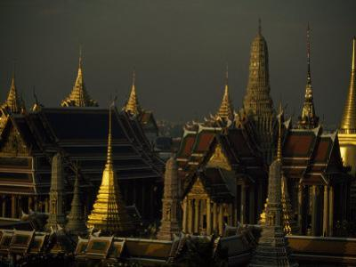 Roofs, Spires, and Steeples in the Grand Palace Complex, Bangkok by Paul Chesley