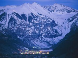 The Cozy Village of Telluride Nestles in a Valley Between High Peaks by Paul Chesley