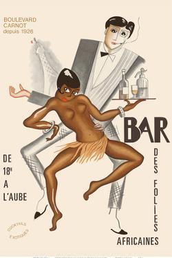 Bar Des Folies Africaines (African Bar) - Boulevard Carnot - Cannes, France by Paul Colin