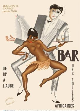 Bar Des Folies Africaines (African Bar) - Boulevard Carnot - Cannes, France by Paul Colin