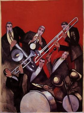 Kings of Jazz Ensemble, 1925 by Paul Colin