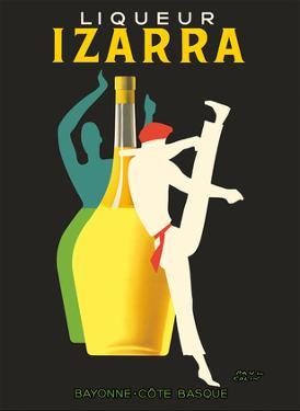 Liqueur Izarra - Bayonne, Cote Basque (Basque Country) - Gerriko Dancer by Paul Colin