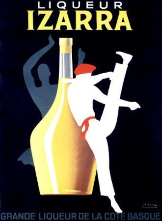 Liqueur Izarra by Paul Colin