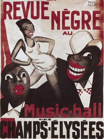 Poster of 'La Revue Negre', 1925 by Paul Colin