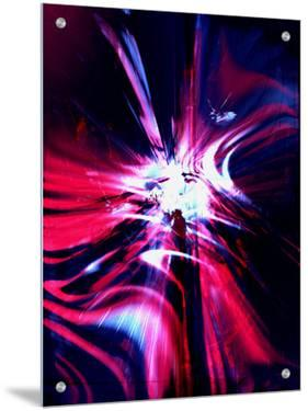Abstract Red, Blue and Purple by Paul Cooklin