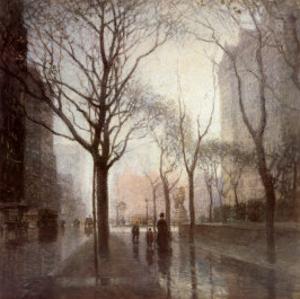 Plaza After the Rain by Paul Cornoyer