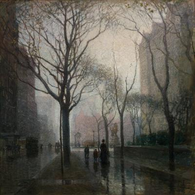 The Plaza after the Rain, 1908
