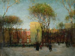 Washington Square, New York, c.1900 by Paul Cornoyer