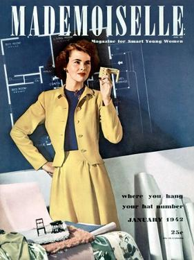 Mademoiselle Cover - January 1942 by Paul D'Ome