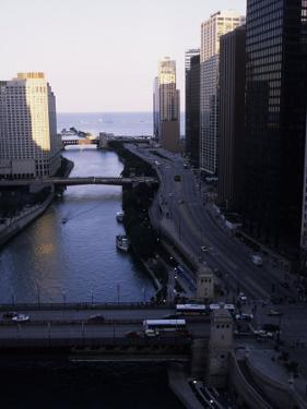 Chicago River Enters Lake Michigan with East Wacker Drive by Paul Damien