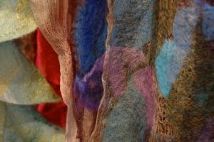Close Up of Scarves by Paul Damien