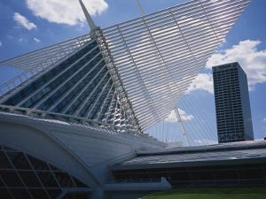 Exterior View of the Quadracci Pavilion at the Milwaukee Art Museum by Paul Damien
