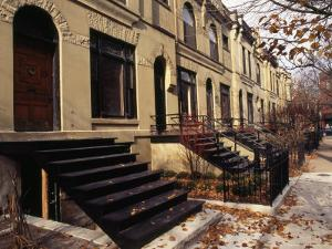 Iron Steps and Entrances in Row Houses in 'Old Town,' Chicago by Paul Damien