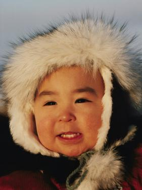 Portrait of an Inuit Child by Paul Damien