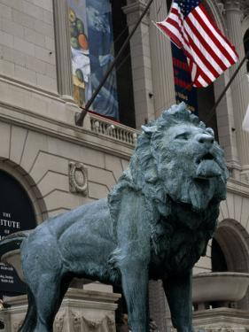 The Bronze Lion in Front of the Chicago Art Institute by Paul Damien