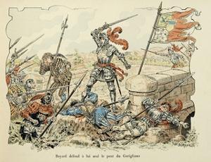 Bayard Defends Alone the Garigliano Bridge by Paul de Semant