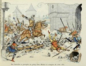 Du Guesclin Gallops Through Town During the Capture of Mantes by Paul de Semant