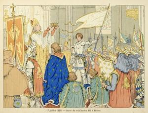 Joan of Arc at Coronation of Charles Vii in Reims, July 17, 1429 by Paul de Semant