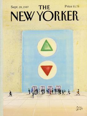 The New Yorker Cover - September 28, 1987 by Paul Degen