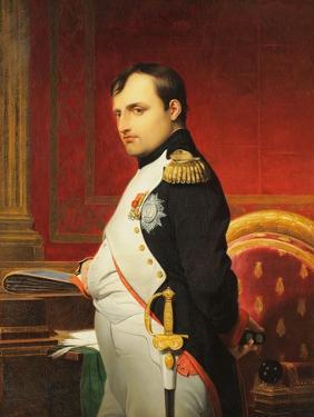 Delaroche, Portrait de l'empereur Napol� 1er dans son cabinet by Paul Delaroche