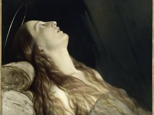 Louise Vernet, the Wife of the Artist on His Deathbed by Paul Delaroche